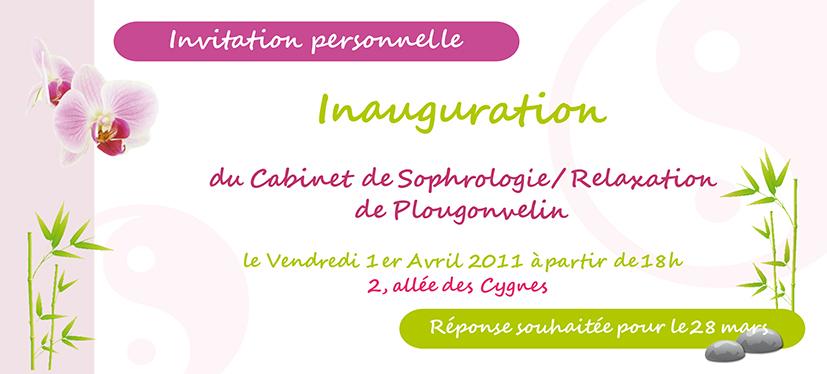Préférence Création d'une carte d'invitation pour un cabinet de sophrologie à  MQ57