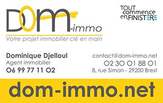 Cration Dune Carte De Visite Pour Dom Immo Brest