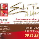 Création d'une carte de visite pour Entre fleurs et mer à Brest