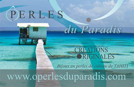 Création d'une carte de visite pour Ô perles du Paradis à Brest