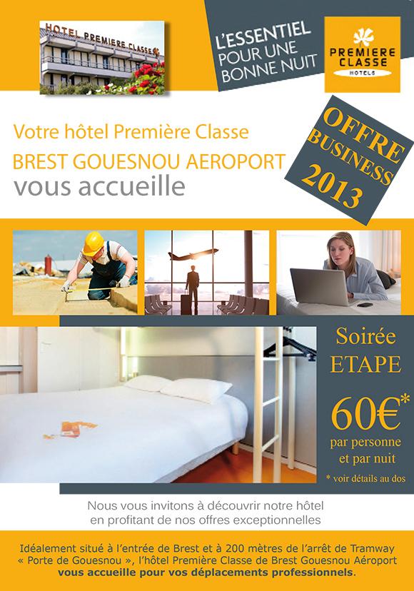 Création du recto d'un flyer pour Hôtel Première Classe à Brest