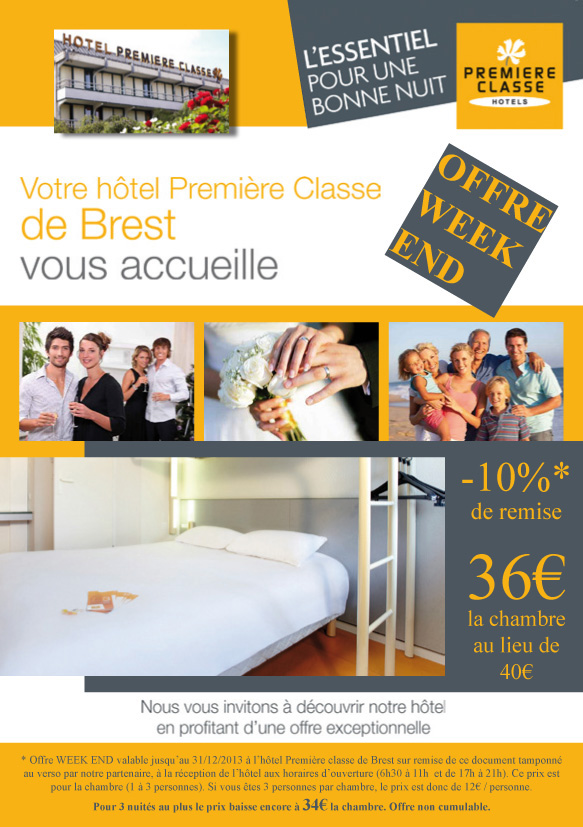 Cr ation d 39 un flyer pour h tel premi re classe brest for Site web pour hotel