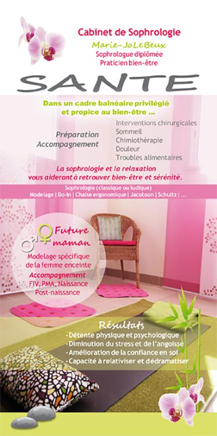 cr ation d 39 un flyer pour un cabinet de sophrologie brest saint renan communication print. Black Bedroom Furniture Sets. Home Design Ideas