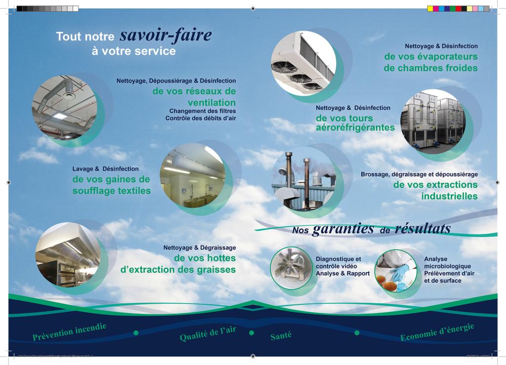 Création du verso d'une plaquette pour Iroise Ventilation à Brest