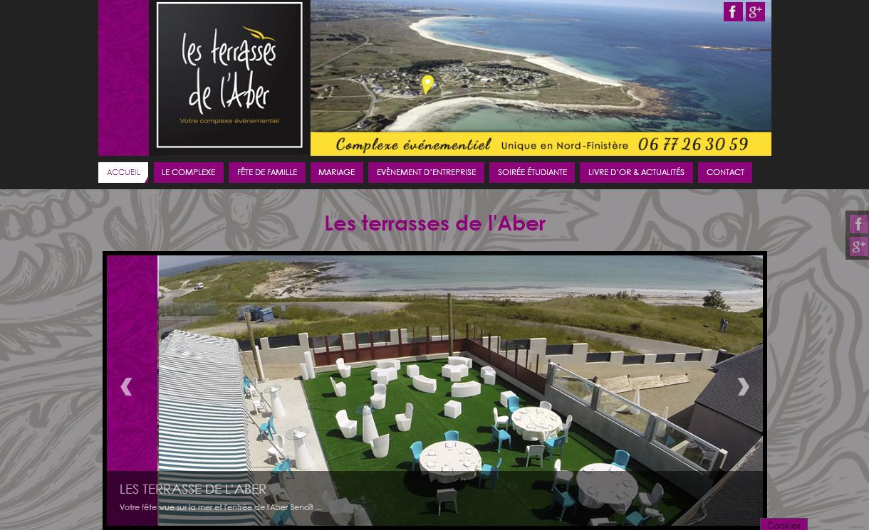 creation de site web à brest pour les terrasses de l'Aber par Papillon Déco & Com