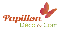 Logo Papillon Déco & Com